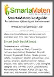 SmartaMatens kostguide/pH-listor i fickformat