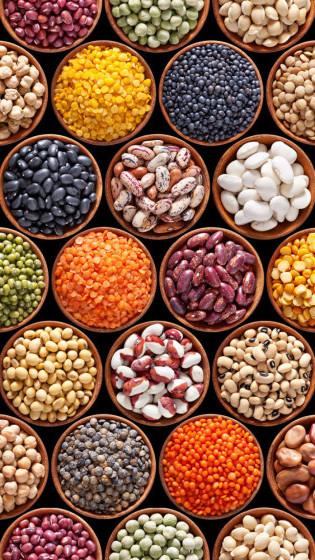Bönor, linser, kikärter - smarta proteinkällor! (bild lånad från http://www.sydneyveganclub.com.au)