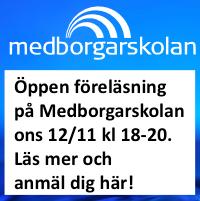 Öppen föreläsning på Medborgarskolan ons 12/11. Välkommen! :-)