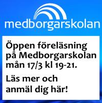 Öppen föreläsning på Medborgarskolan mån 17/3. Välkommen! :-)
